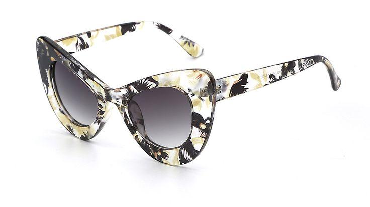 Delano Cat Eye Oversized Sunglasses