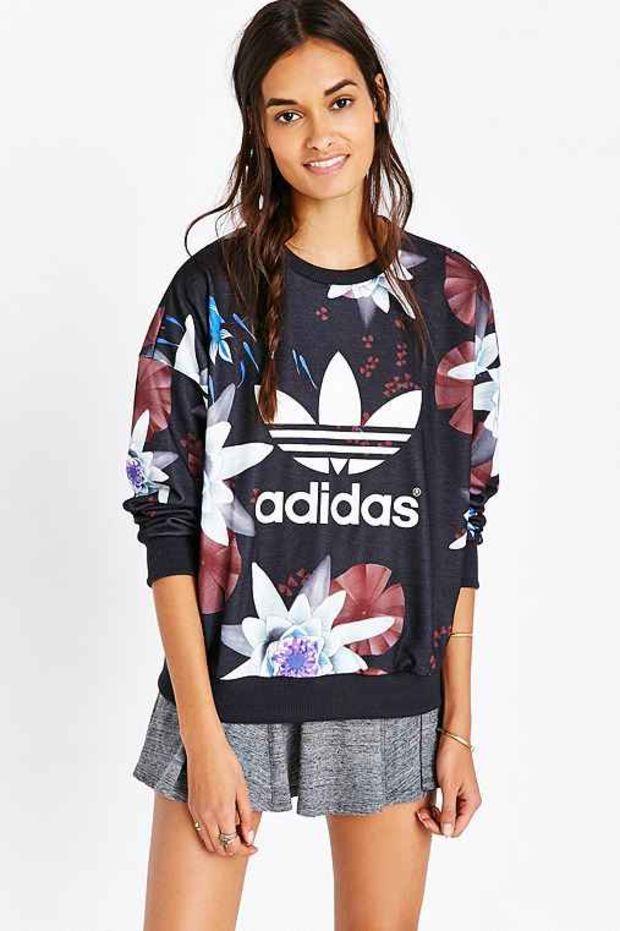 adidas Lotus Print Sweatshirt- Multi