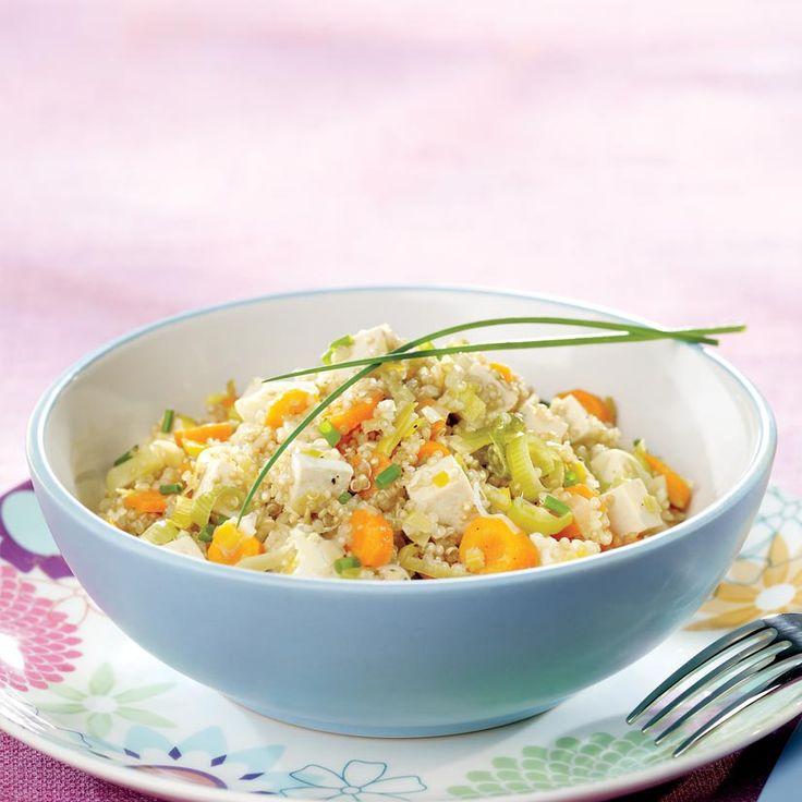 Quinoa au tofu et aux petits légumes