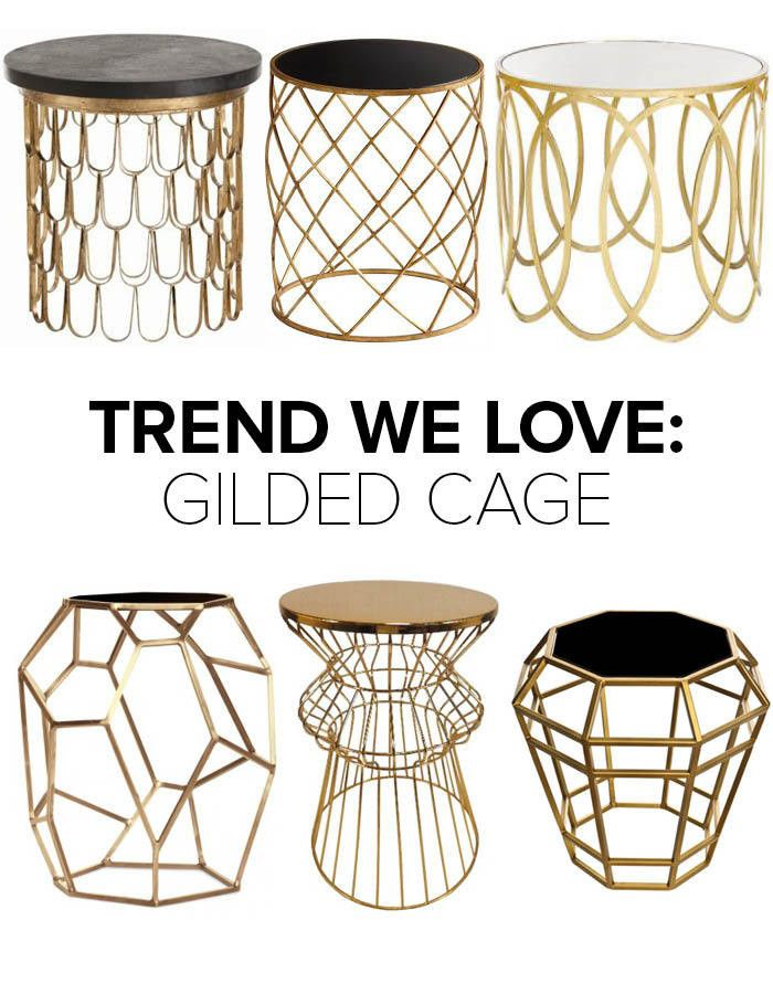 704 best table images on pinterest occasional tables small tables trend we love gold wireframe side tables greentooth Images