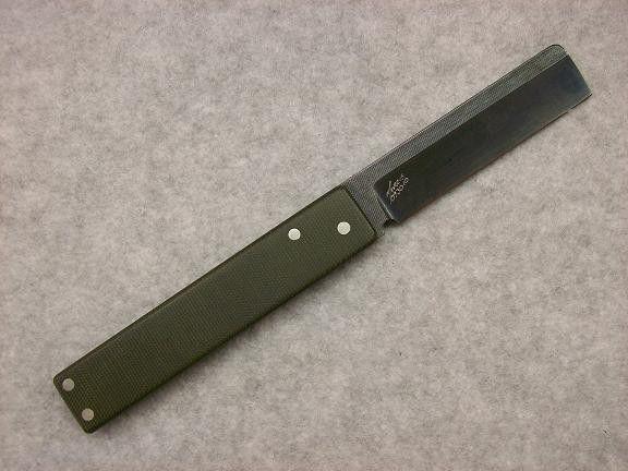 Michael Morris Knives - Straight Razor Friction Folder w/ bottle opener tang | #1808026252