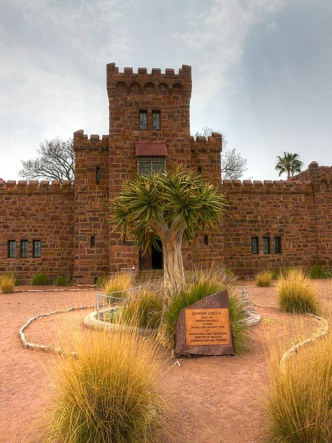 Duwisib Castle is a grand pseudo-medieval looking fortress in the hills of the semi-arid Southern Namib region of Namibia. Much of the raw materials for the construction of the fort were imported from Germany, landing at Lüderitz. Built around 1910, the resulting edifice consists of 22 rooms.