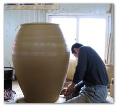 This picture is from his adventure in Korea, where he learned traditional methods of pottery making with minimal machinery. It's such a cool process to get a glimpse of. Adam Field Pottery - Hand Made Pottery in Southwest Colorado - Gallery