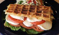 Tomato and Mozzarella waffle panini