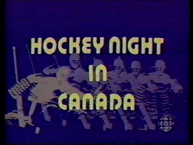 Hockey Night in Canada (HNIC)...Saturday Night Canadian tradition