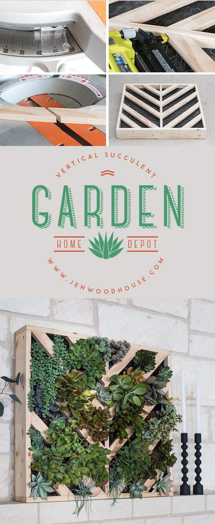 How to make a vertical succulent garden. #succulents #gardening http://jenwoodhouse.com/vertical-succulent-garden/