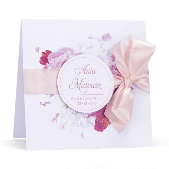 Zaproszenia ślubne zkwiatemPeonii – artMA