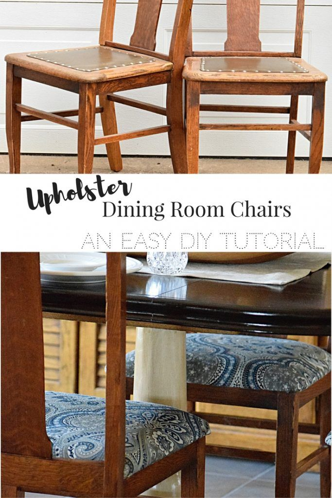 The 25 best reupholster dining room chairs ideas on pinterest kitchen chair redo reupholster - Recover dining room chairs ...