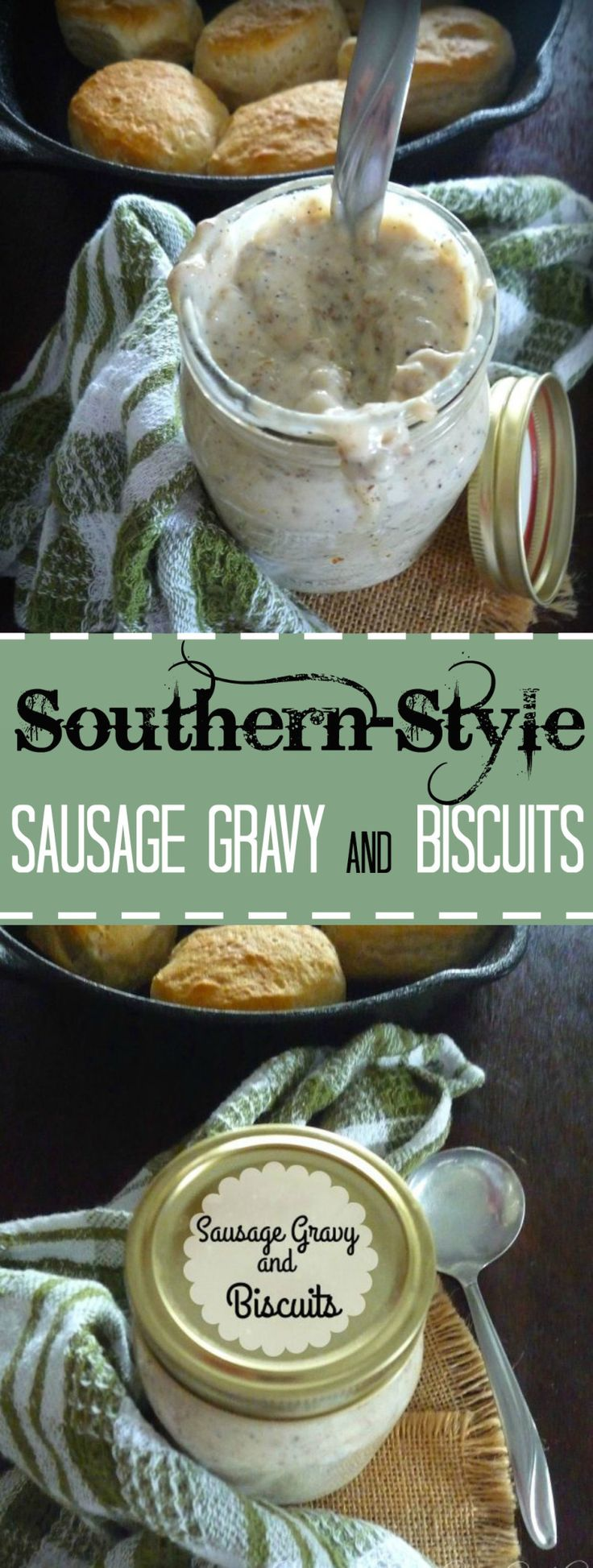 Creamy delicious heaven over biscuits is the phrase that comes to mind when I think of my mama's Southern Sausage Gravy and Biscuits; I can not begin to tell you in words how amazingly good her Southern Sausage Gravy is over her homemade biscuits. I might be a little biased when it comes to my mama and her cooking, but I am telling your that sausage gravy is lip smacking good.