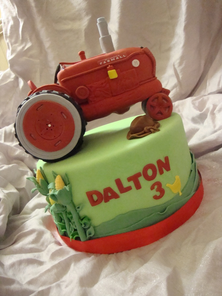 Farmall Decorating Ideas : Best images about tractor cakes on pinterest john