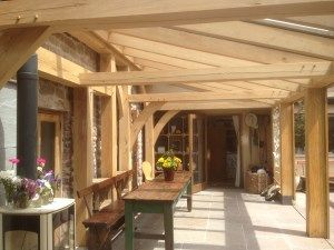 green oak timber frame garden room @ www.millendmitcheldean.co.uk - perfect for alfresco dining