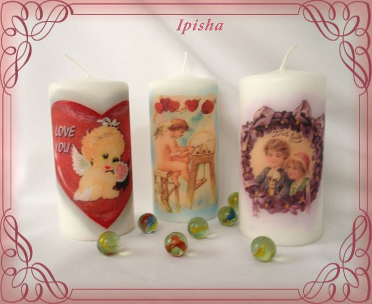 Романтические свечи-Romantic candles. one candle - 6.00 euro  two candles - 10.00 euro