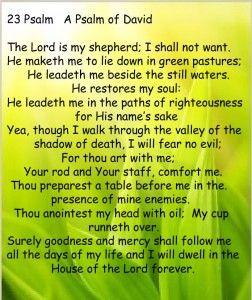 23 Psalm A Psalm of David