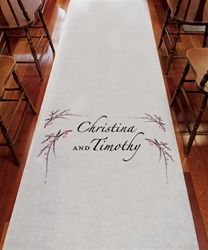 Cherry Blossom Personalized Wedding Aisle Runner (2 DESIGNS, 3 COLOR OPTIONS)