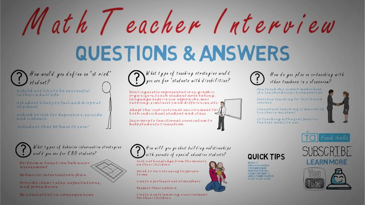 how to answer special education teacher interview questions