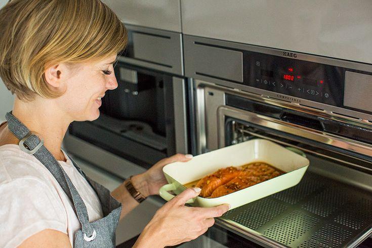 Stoomoven recept: Oosterse zalm met spinazie - Leuke recepten