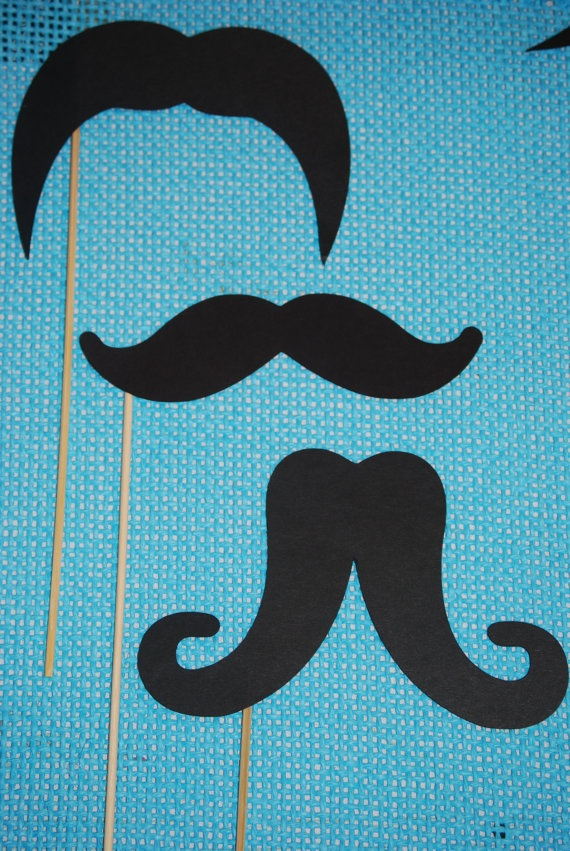 Utterly sick of hipster mustaches -Mustache Photo Booth Props