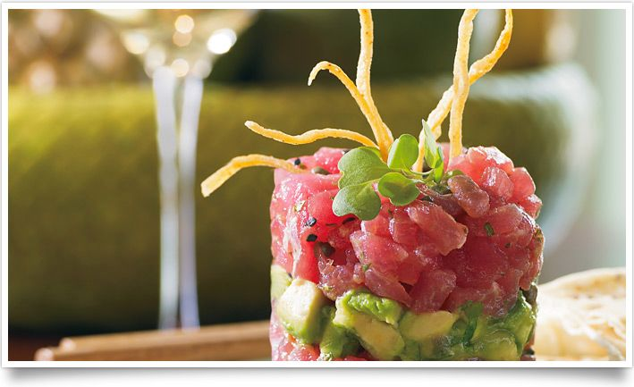 Ahi Poke Napoleon: recipe courtesy of Tommy Bahama