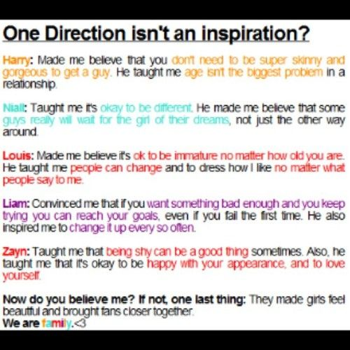 one direction changed my life <3