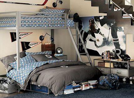 Girls hockey bedroom this is soooo cool for Hockey bedroom ideas