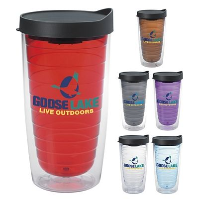 Promotional 16 oz. Color Splash Tumbler with Lid Item #NOR-45909 (Min Qty: 72). Customize your Promotional Acrylic Tumblers with your company logo and with no setup fees.