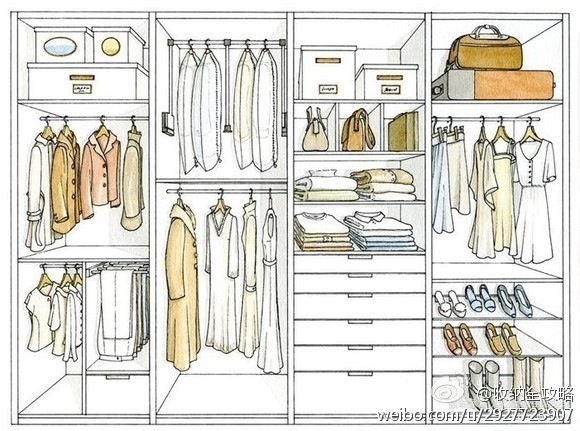Wardrobe organize sketches and ideas. For the Home