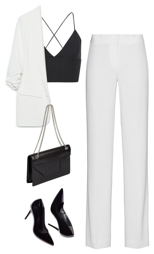 """Untitled #2970"" by charline-cote ❤ liked on Polyvore featuring DKNY, Zara, Yves Saint Laurent, women's clothing, women, female, woman, misses and juniors"