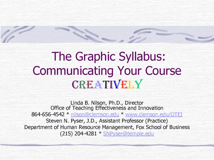 The Graphic Syllabus Fox School of Business Temple University by ...