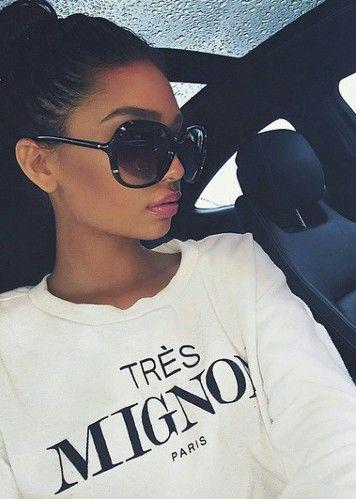 pinterest: @ nandeezy † More Zone Shades, Style, Fab Sunglasses, Big Sunglasses, Girls Fashion Luxury, Hair Nails Makeup Beautiful, Start Posts, Accessories, Fashion Styl Big sunglasses