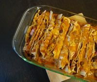Great enchilada sauce! http://vegetarian.about.com/od/vegetarianmexicanrecipes/r/enchiladasauce.htm