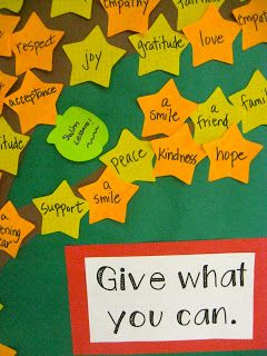 Based on 'The giving tree' book - students can do a star each and decorate it. Great for Stage 3.