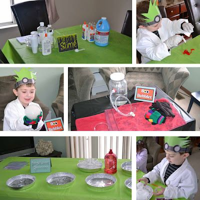 Monster Scientist 6th Birthday Party, super cute experiments, making slime, boo bubbles and instant snow!