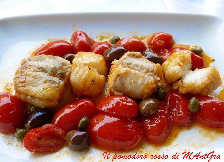 Il Pomodoro Rosso di MAntGra: Rana pescatrice alla mediterranea