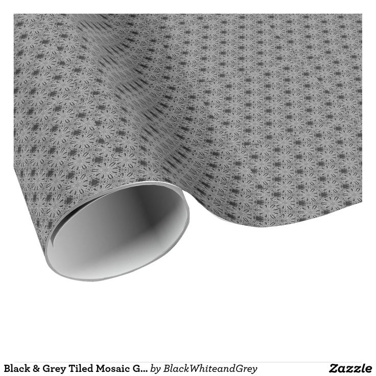 Black & Grey Tiled Mosaic Glossy Wrapping Paper