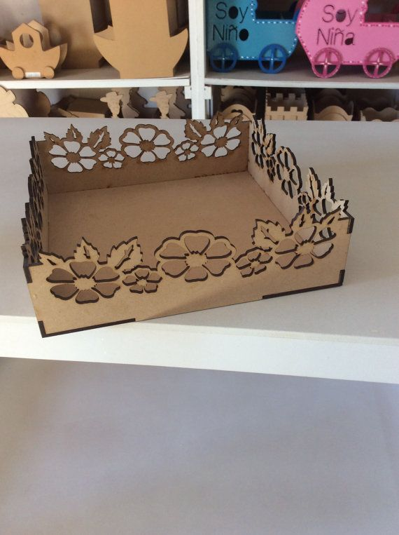 Wood box laser cut