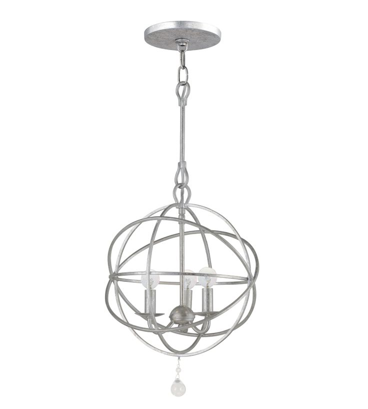 solaris olde silver three light chandelier crystorama candles without shades chandeliers c