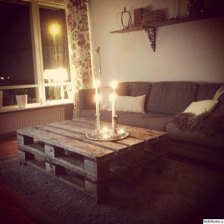 lantligt,soffbord av lastpallar,shabby chic,lastpallar bord,lastpall,vardagsrum