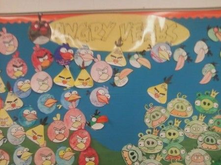 angry verbsAngry Verbs, Teaching Ideas, Bulletin Boards Languages Art, Art Bulletin Boards, Grammar Activities, Angry Birds Classroom, Kids, So Funny, Classroom Ideas