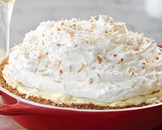 Gingerbread-Crusted Mile-High Coconut Cream Pie