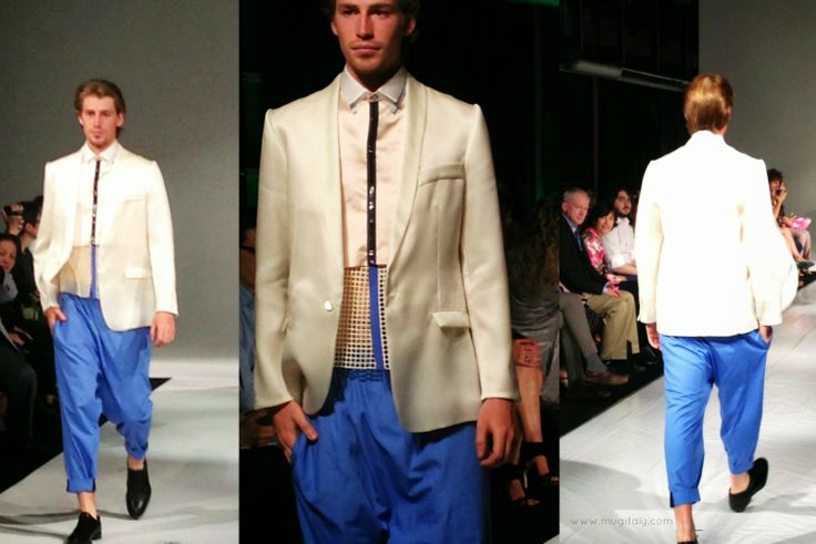 designed and tailored by Yazmin Lopez  - watch the runway pics here http://www.mugitaly.com/2014/06/future-of-fashion-fit-in-milan.html