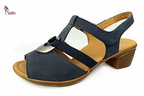12-35165-01, Sandales femme - Noir (Schwarz), 37.5 EUAra
