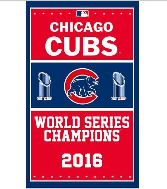 Chicago Cubs Flag 3x5 Feet Banner MLB 2016 world series champions 2 metal Gromme #Unbranded