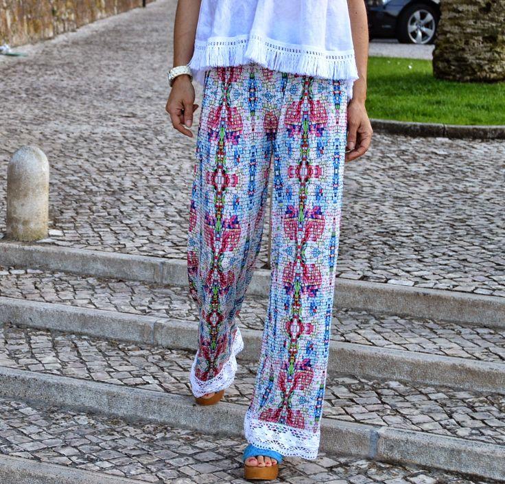 cheia de graça: Calças Refª Damasco #calças #modafeminina