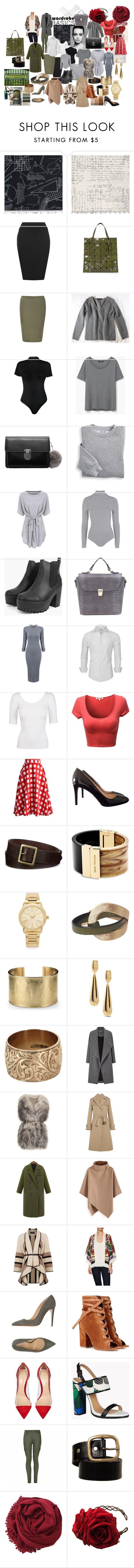 """Vintage Basics"" by supersilent on Polyvore featuring moda, Trowbridge, WearAll, Bao Bao by Issey Miyake, CO, MANGO, Blair, Topshop, Chicwish i Prada"