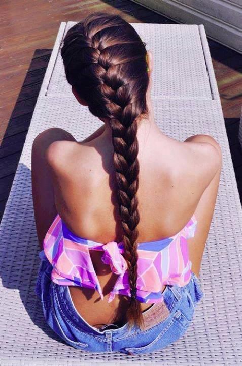 Perfect Braid:  Yes perfect weather to show off a perfect braid.