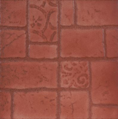 Khan Asp. Relica terrakotta 33,3x33,3 cm padlólap