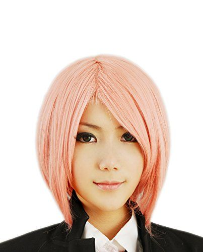 Perücke Dark Pink Medium Glattes Haar Cosplay | Your #1 Source for Toys and Games