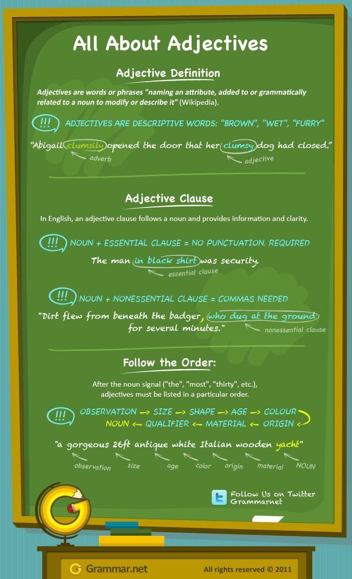 Todo sobre los adjetivos