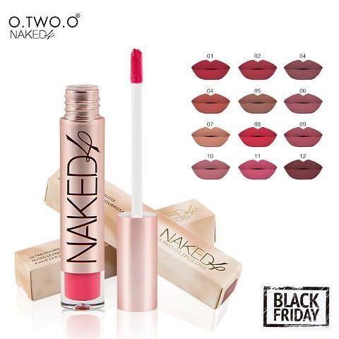Naked High Quality Matte Color Lip Gloss-makeupbyyo
