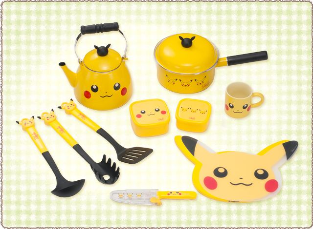 Kit De cozinha do Pikachu!  Que amor! ♡♡♡♡♡ ☺ Até animais nosso dia